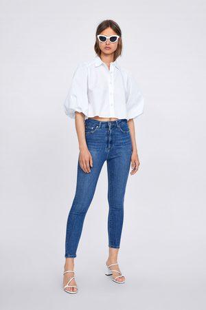 Zara 80s jeans zw premium met hoge taille