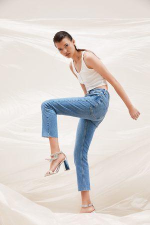 Zara Soepelvallende jeans met halfhoge taille