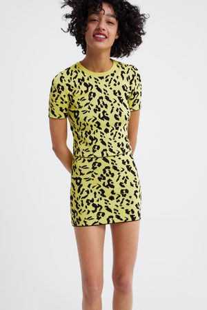 Zara Tricot rok met dierenprint