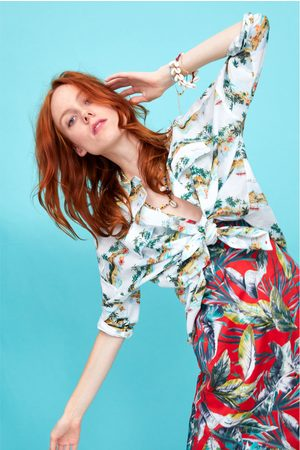 Zara Overhemd met palmbomen