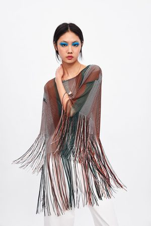 Zara Top met structuur en franjes