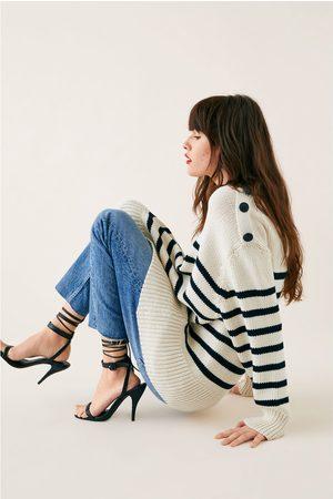 Zara Gestreepte tricot trui
