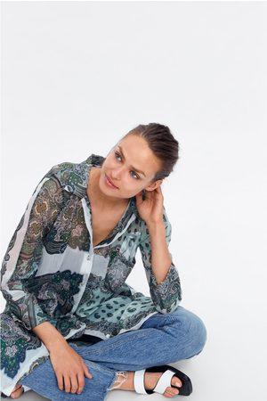 Zara Lange blouse met print
