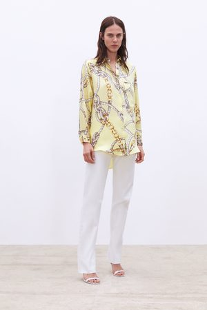 Zara Blouse met knopenprint