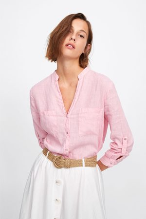 Zara Linnen blouse met zakjes