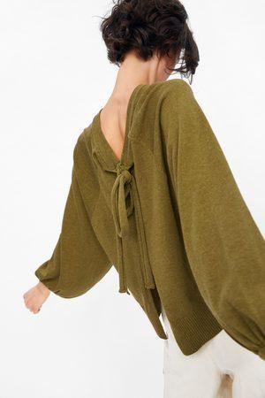 Zara Tricot trui met strik