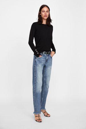 Zara Basic trui met knopen