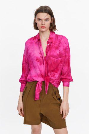Zara Oversized tie-dye blouse
