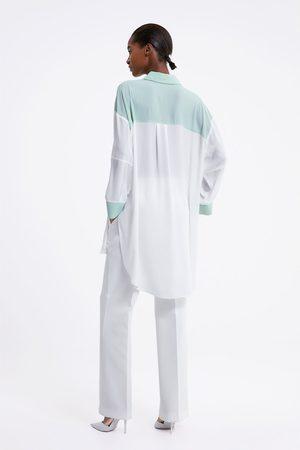 Zara Oversized blouse met kleurblok