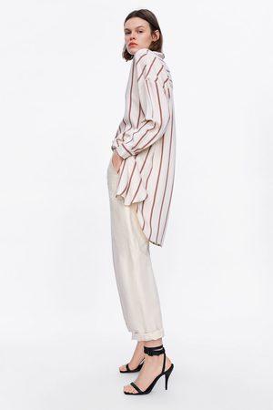 Zara Oversized blouse met strepen