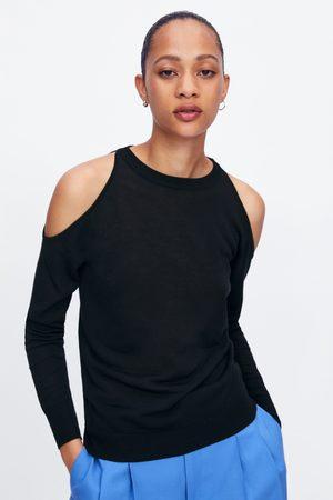 Zara Tricot trui met opengewerkt detail