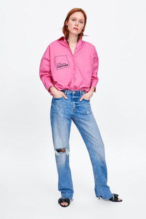Zara Oversized blouse van popeline