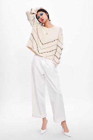 Zara Tricot trui met kraaltjes