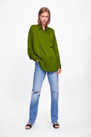 Zara Satijnen blouse met zak