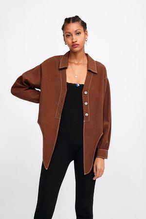 Zara Cropped blouse met knopen