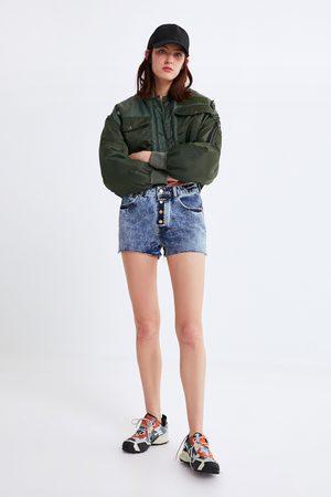 Zara Denim short met knopen