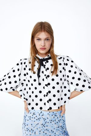 Zara Cropped blouse met stippen