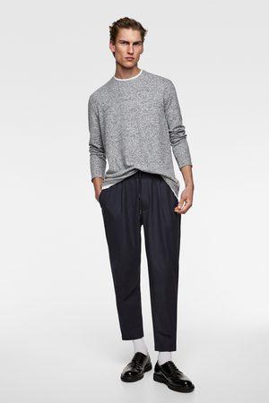 Zara Heren Shirts - T-shirt met contrasterende kraag