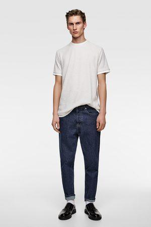Zara T-shirt met contrasterende afwerkingen