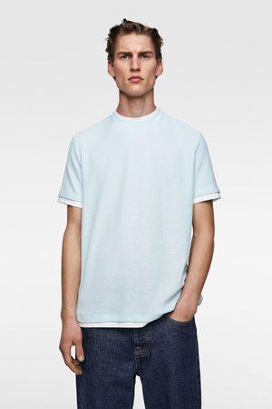 Zara Heren Shirts - T-shirt met contrasterende afwerkingen