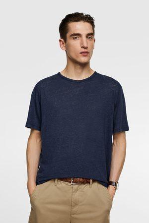 Zara Heren Shirts - Linnen t-shirt
