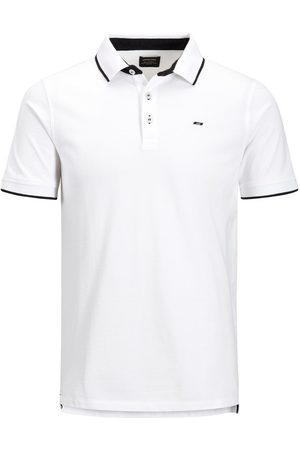 Jack & Jones Klassiek Plus Size Polo Heren White