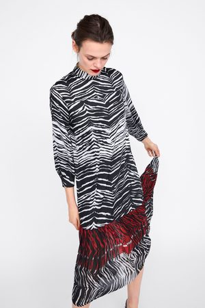 Zara Combi-jurk met dierenprint