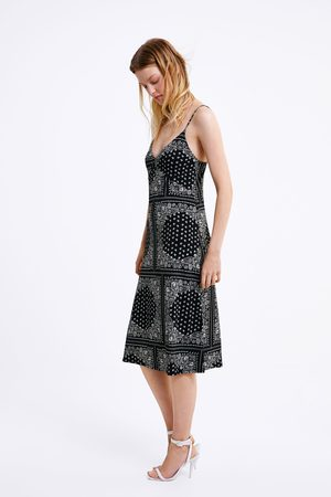 Zara Printed strappy dress