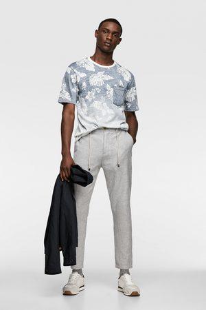 Zara T-shirt met tropische print