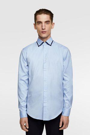 Zara Heren Overhemden - Overhemd met dubbele kraag