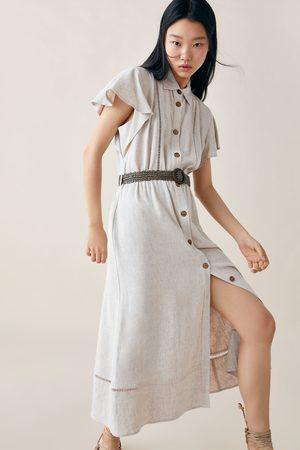 Zara Rustieke jurk met ceintuur