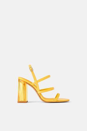 Zara Sandaaltjes met brede methacrylaat hak