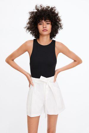Zara Paperbag bermuda met ceintuur