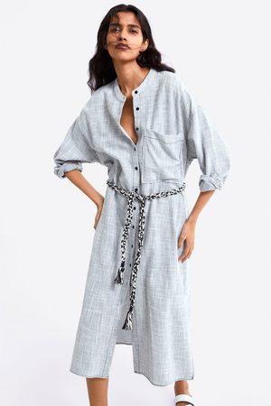 Zara Dames Riemen - Combi-jurk met ceintuur