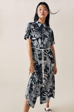 Zara Dames Geprinte jurken - Jurk met print en ceintuur