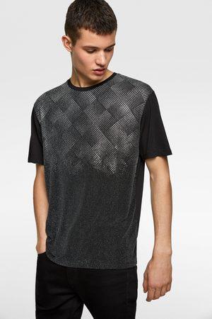 Zara T-shirt met glanzende kralen