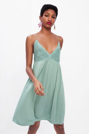 Zara Dames Bretels - Combi-jurk met bretels