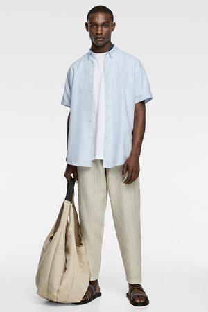 Zara Rustieke blouse met korte mouwen