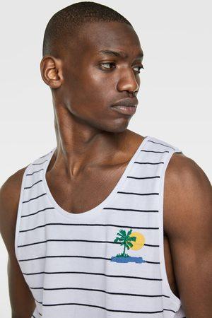 Zara Piqué t-shirt met strepen