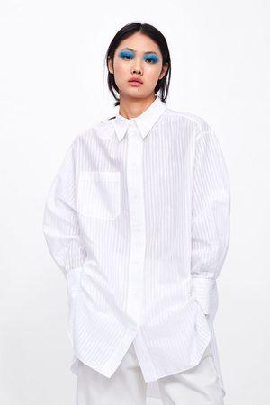 Zara Dames Blouses - Oversized blouse met zak