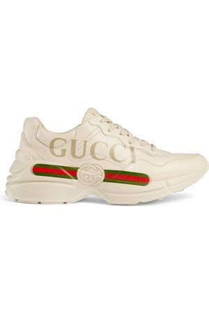 Gucci Women's Rhyton logo leather sneaker