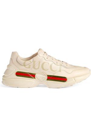 Gucci Men's Rhyton logo leather sneaker