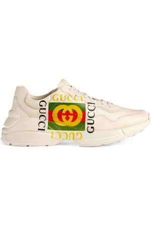 Gucci Heren Sneakers - Rhyton logo leather sneaker