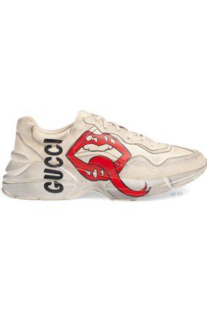 Gucci Men's Rhyton sneaker with mouth print