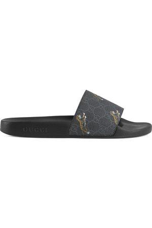 Gucci Heren Sandalen - Men's GG Supreme tigers slide sandal