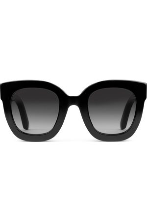 Gucci Dames Zonnebrillen - Round-frame acetate sunglasses with star