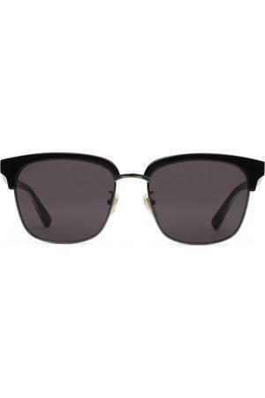 Gucci Heren Zonnebrillen - Rectangular-frame metal sunglasses