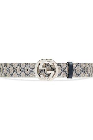 Gucci Heren Riemen - GG Supreme belt with G buckle