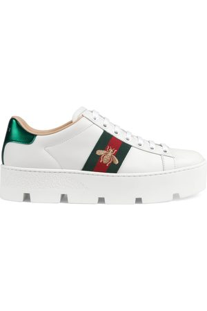 Gucci Women's Ace embroidered platform sneaker