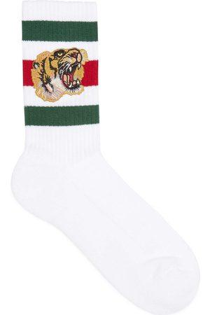 Gucci Heren Sokken & Kousen - Stretch cotton socks with tiger